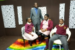 Standard Six Students at Rainbow TV for Drama Production